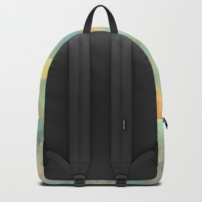 """Colored crystals . """"Sunbeams"""" . Backpack"""