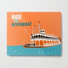 ride the mark twain riverboat Metal Print