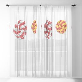 Lollipop collection Sheer Curtain