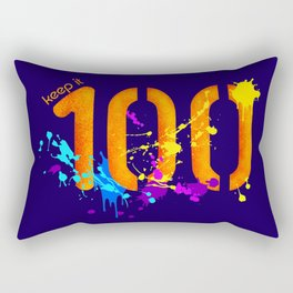 Keep It 100 Rectangular Pillow
