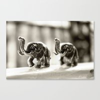 elephants Canvas Prints featuring Elephants by Jay W
