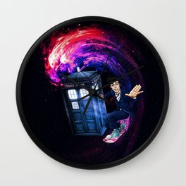 Doctor Who Space Surfing Wall Clock
