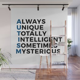 Autism Autistic Unique Intelligent Mysterious Wall Mural