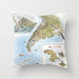 Cape Horn - Exploration AD 1616 Throw Pillow