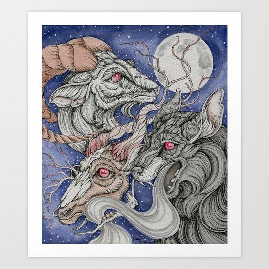 Wolfram and Hart Art Print