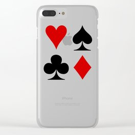 Suits Cards Clear iPhone Case