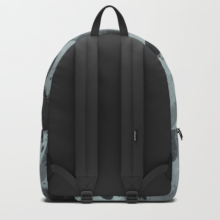 Black and Smokey Blue Pastels 3216 Backpack