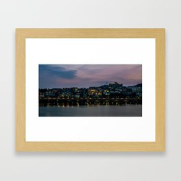 Purple Skies Over Seoul Framed Art Print