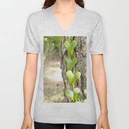 Heart tree Unisex V-Neck