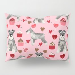 Schnauzer valentines day cupcakes love hearts schnauzers must have pure breed lovers Pillow Sham