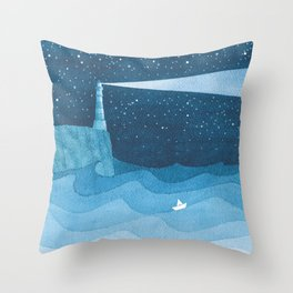 Lighthouse illustration Throw Pillow