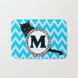 Letter M Cat Monogram Bath Mat
