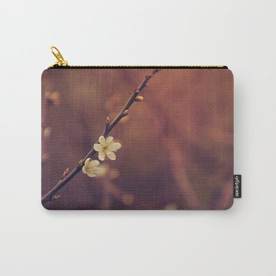 White Cherry blossom Carry-All Pouch