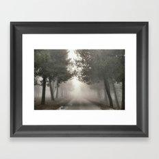 Mystery road.... Framed Art Print