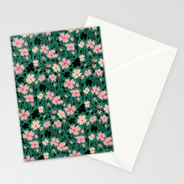 Winter Solstice Floral in Soft Green | Pattern Collection  Stationery Cards