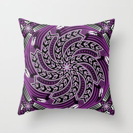 Wind Spirit (Purple) Throw Pillow