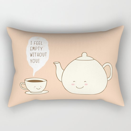 I feel empty without you! Rectangular Pillow