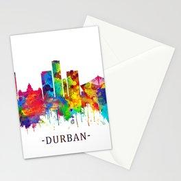 Durban South Africa Skyline Stationery Cards