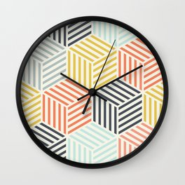 Colorful Geometric Pattern Wall Clock