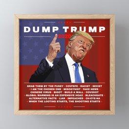 Dump Trump 2020 illustration  Framed Mini Art Print
