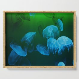 Moon Jellyfish - Blue and Green Serving Tray