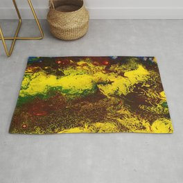 Abstract Art / A Raging Inferno by Peter Melonas Rug