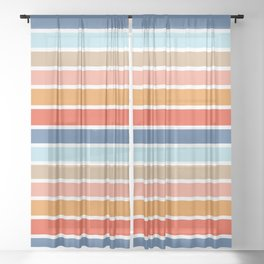 Six Stripes Sheer Curtain