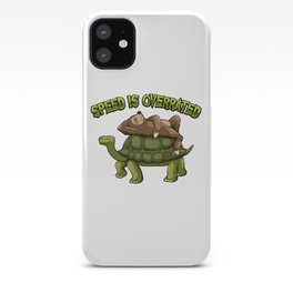 Speed Is Overrated - Sloth Rides A Turtle iPhone Case