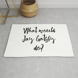 What would Jay Gatsby do? Rug