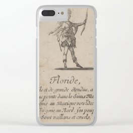 Game of Geography - Florida (Stefano della Bella, 1644) Clear iPhone Case
