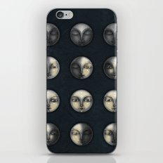 moon phases and textured darkness iPhone Skin