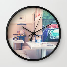 Let's get some shakes (Retro cafe) Wall Clock