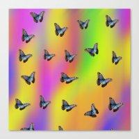 butterflies Canvas Prints featuring Butterflies by Fine Art by Rina