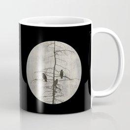 Full Moon and Crows Coffee Mug