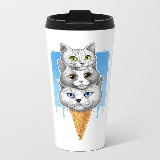 Ice-cream cats Metal Travel Mug