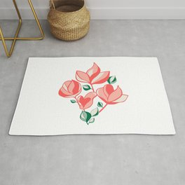 Adorable bouquet Rug