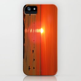 Kayaker and the Setting Sun iPhone Case