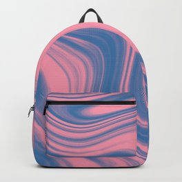 Liquid pink and blue Backpack