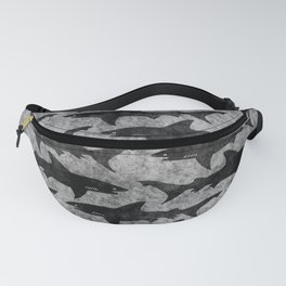 Gray and Black Shark Pattern Fanny Pack