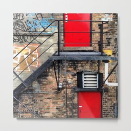 Fire Escape in Chicago Metal Print