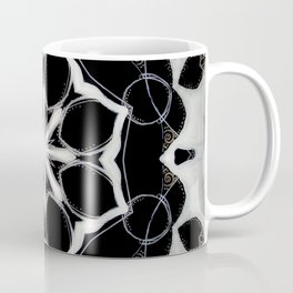 Icelandic // Geometric Black White Sacred Geometry Flower Life Peace Healing Energy Star Circle Coffee Mug