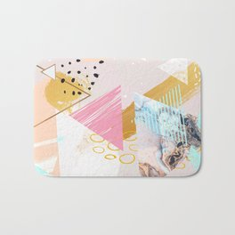 Abstract geometric textures and marble Bath Mat
