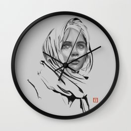 Jyn Erso: sketch-painting Wall Clock