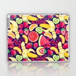 Fruit Cocktail on Blue Laptop & iPad Skin