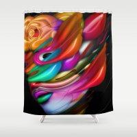 asia Shower Curtains featuring Asia by Bartosz Piotrowski