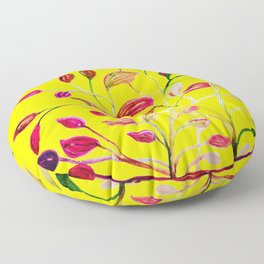 Red and Green Leaves! Yellow Sunshine! Floor Pillow