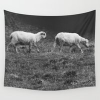 sheep Wall Tapestries featuring Sheep by Pati Designs