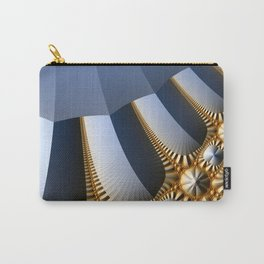 Pleated abstract with gold and jewels Carry-All Pouch