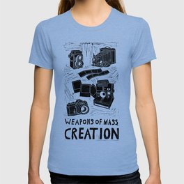Weapons Of Mass Creation - Photography (blk on brown) T-shirt