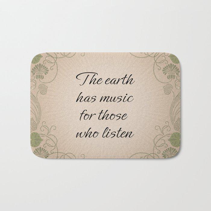 Earth Music Bath Mat